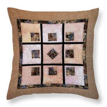 Golden Frost On The Window Throw Pillow