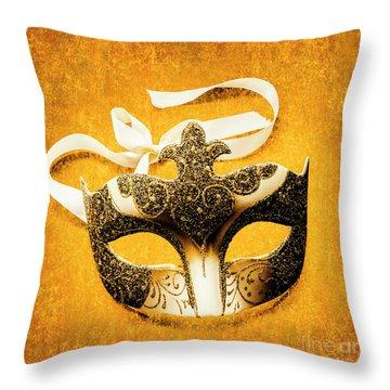 Golden Gala Throw Pillow