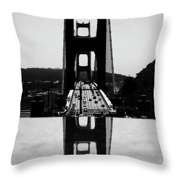 Golden Gate Reflection Throw Pillow