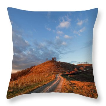 Golden Hill Throw Pillow