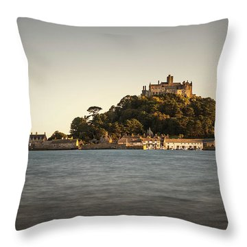 Golden Hour At St Michael's Mount Throw Pillow