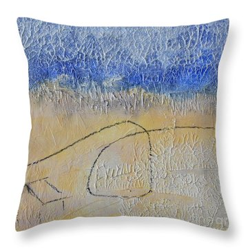 Throw Pillow featuring the painting Golden Hour by Kim Nelson