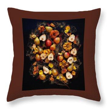 Golden Pear Tree Throw Pillow