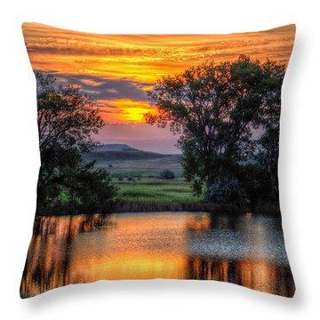 Golden Pond At 36x60 Throw Pillow
