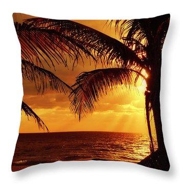 Golden Sunrise Throw Pillow