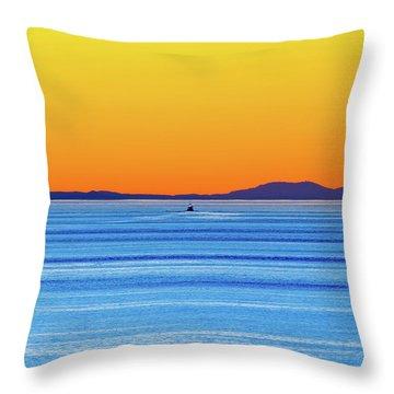 Golden Sunset Series I I Throw Pillow