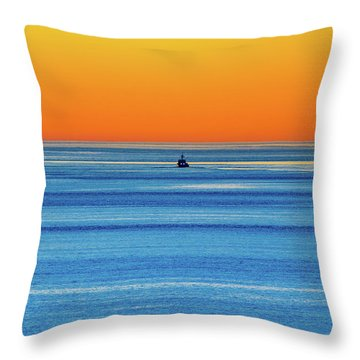 Golden Sunset Series I I I Throw Pillow