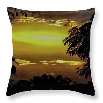 Golden Sunset On Strawberry Hill Throw Pillow