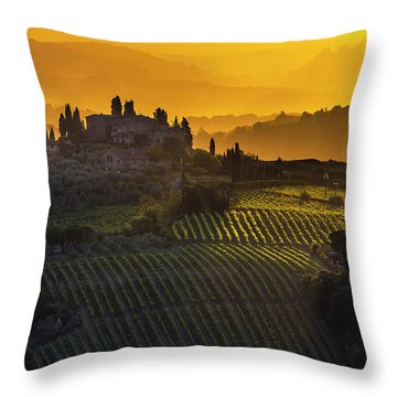 Golden Tuscany Throw Pillow