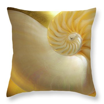 Throw Pillow featuring the photograph Golden_nautilus_0692 by Mark Shoolery