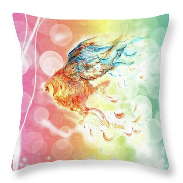 Goldfin Throw Pillow