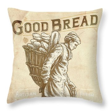 Good Bread Throw Pillow