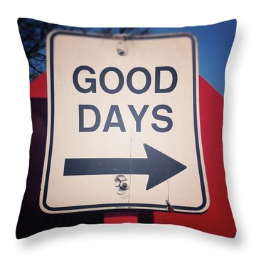 Good Days- Art By Linda Woods Throw Pillow