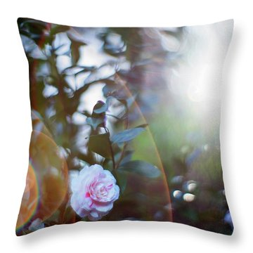 Throw Pillow featuring the photograph Good Morning Starshine, The Earth Says Hello by Quality HDR Photography