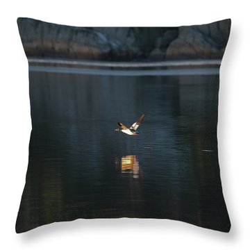 Goosander Throw Pillow