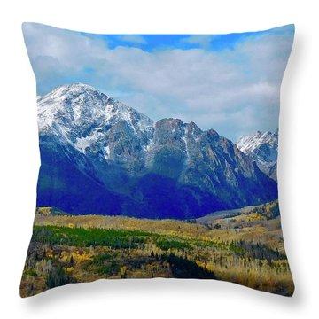 Throw Pillow featuring the photograph Gore Mountain Range by Dan Miller