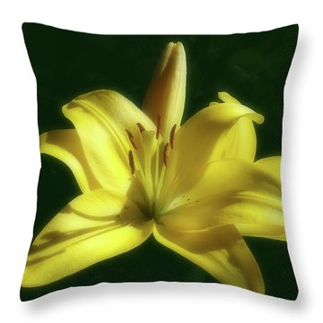 Throw Pillow featuring the photograph Gorgeous And Beautiful Yellow Lily  by Johanna Hurmerinta