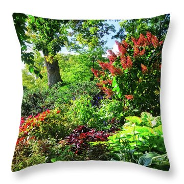Throw Pillow featuring the photograph Gorgeous Gardens At Cornell University - Ithaca, New York by Lynn Bauer
