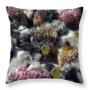 Throw Pillow featuring the photograph Gorgeous Red Sea Underwater World 2 by Johanna Hurmerinta