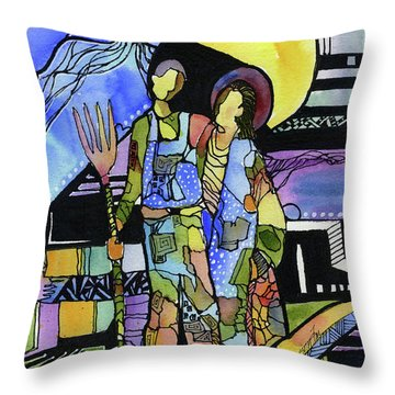Gothic Friends Throw Pillow