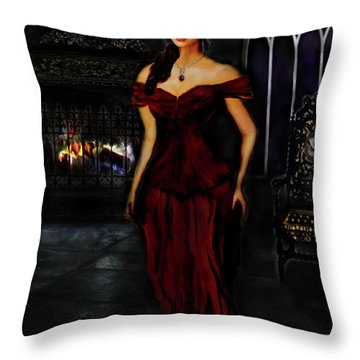 Gothic Lady Wisdom Throw Pillow