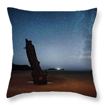 Gower Helvetia At Night  Throw Pillow