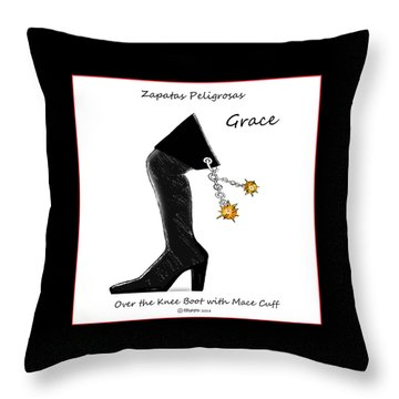 Grace Wall Art Throw Pillow