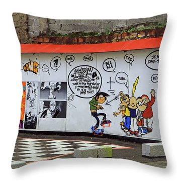 Throw Pillow featuring the photograph Graffiti by Tony Murtagh