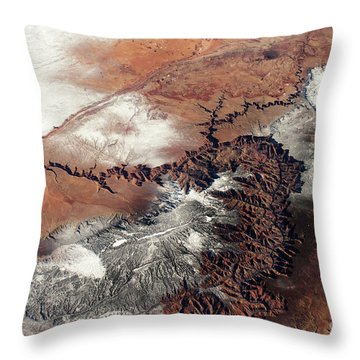 Grand Canyon In Winter Throw Pillow