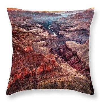 Grand Canyon Winter Sunset Throw Pillow