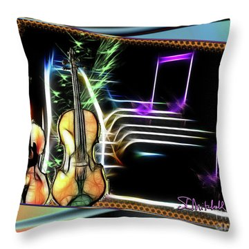Grand Musicology Throw Pillow