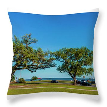 Grand Old Lighthouse Biloxi Ms Collage A1e Throw Pillow