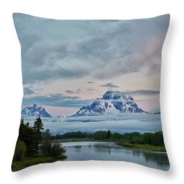 Grand Tetons Morning Throw Pillow