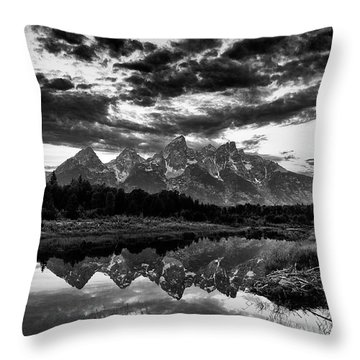 Grand Tetons, Wyoming Throw Pillow