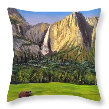 Throw Pillow featuring the painting Grandeur And Extinction by Kevin Daly