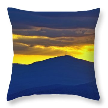 Grandmother Mountain Sunset Throw Pillow