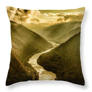 Grandview Morning Light Throw Pillow