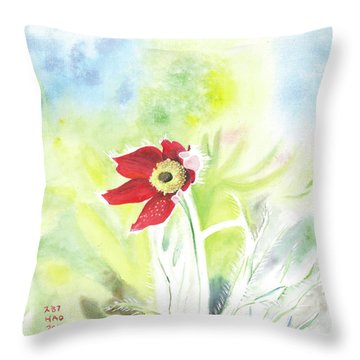 Granny Flower 3 Throw Pillow