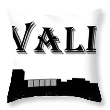 Grass Valley Skyline Throw Pillow