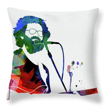 Grateful Dead Watercolor Throw Pillow