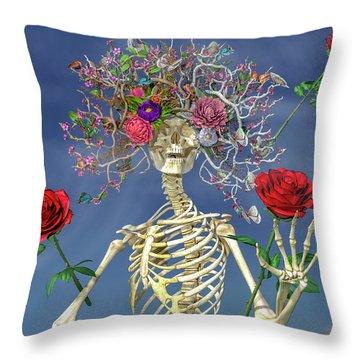Bone Structure Throw Pillows