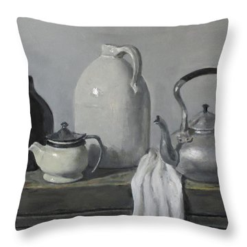 Gray Matters Throw Pillow