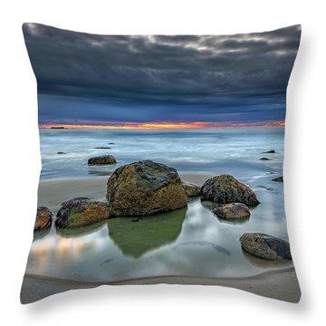 Throw Pillow featuring the photograph Gray Morning On Wells Beach by Rick Berk