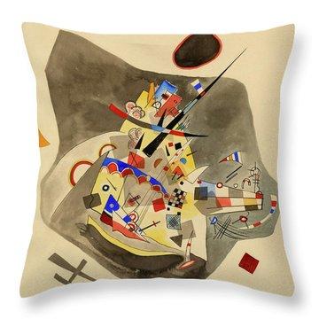 Gray Spot - Grauer Fleck, 1922  Throw Pillow