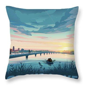 Grays Lake Throw Pillow