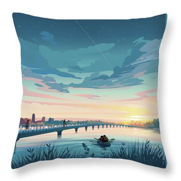 Grays Lake Throw Pillow