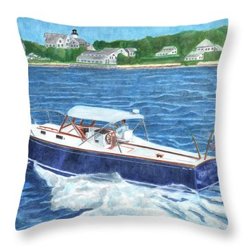 Great Ackpectations Nantucket Throw Pillow