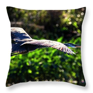 Great Blue Escape  Throw Pillow