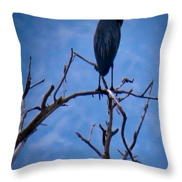Great Blue Heron 3 Throw Pillow