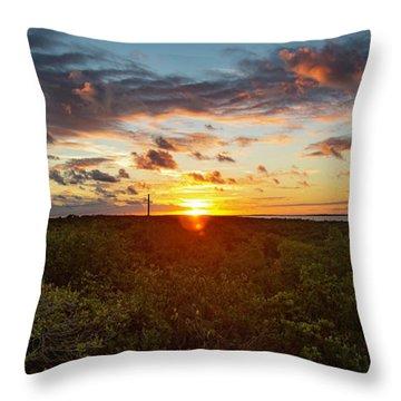 Great Exuma Sunrise Throw Pillow